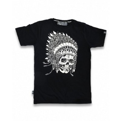 Camiseta Indian Skull Liquor Brand L